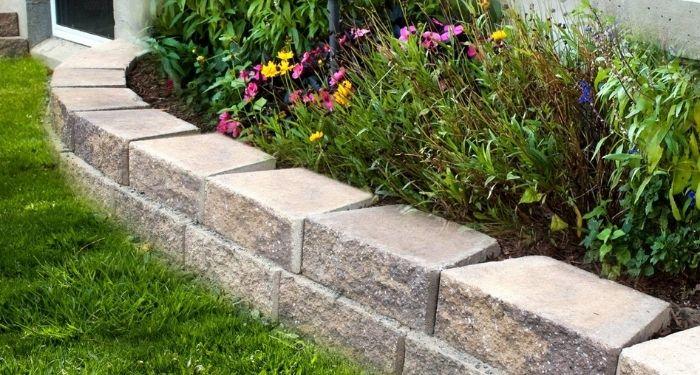brick garden barrier