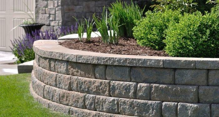 round stone garden wall