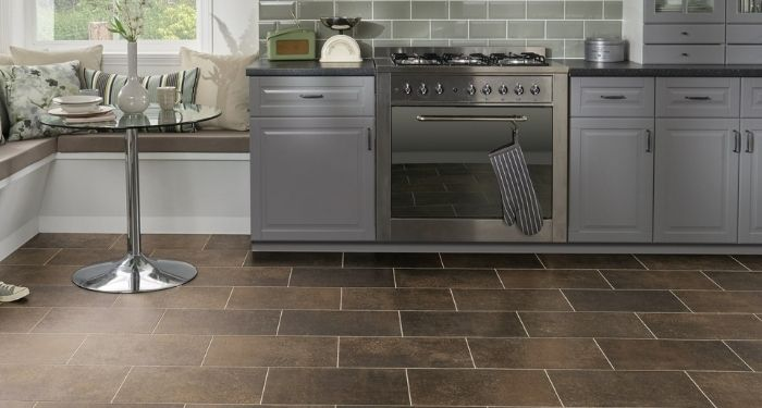 kitchen with tiled floor