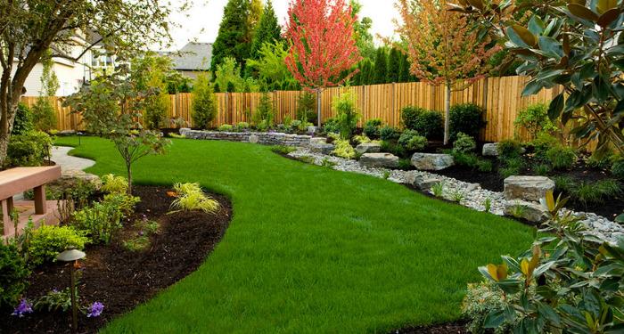 beautifully landscaped garden