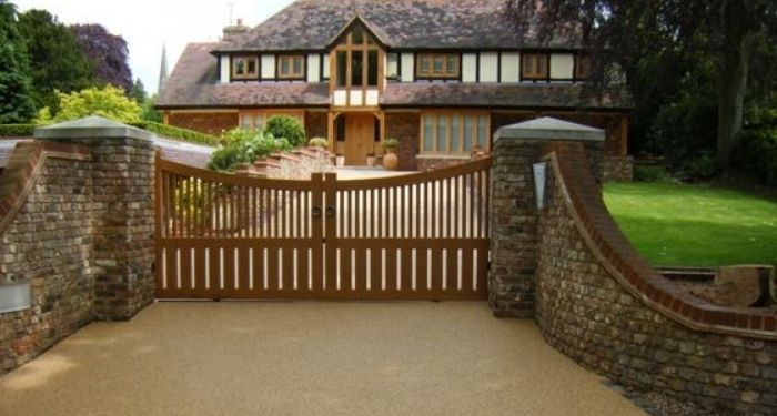 House with new resin driveway