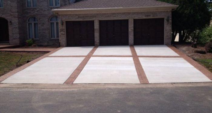 flat concrete driveway