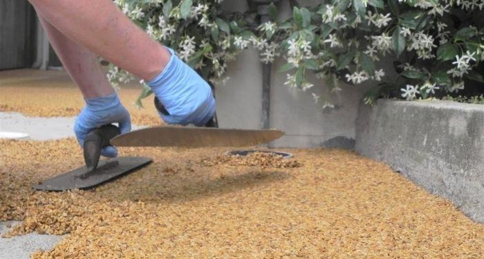 Resin driveway installation