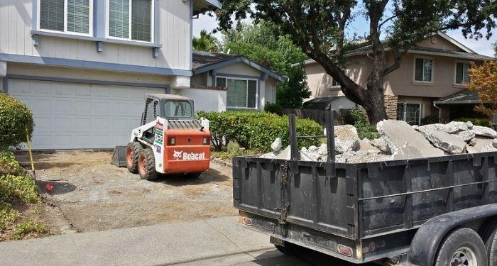 removing a concrete driveway