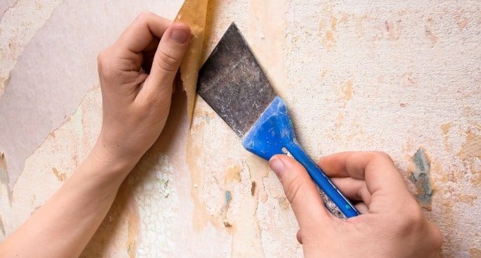 removing wallpaper and plaster