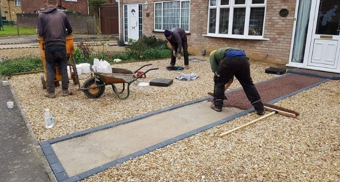 Resin driveway removal