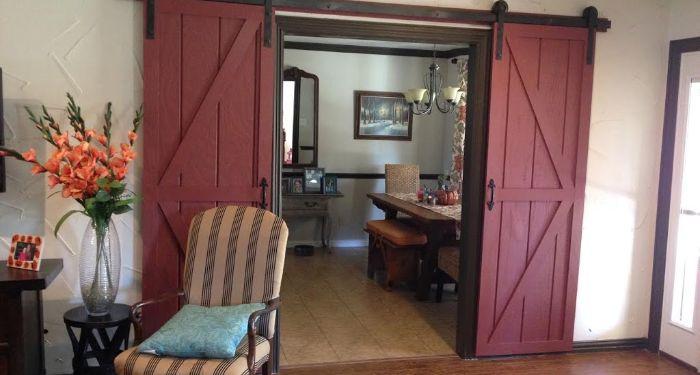 coloured sliding doors