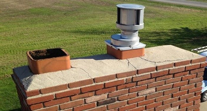 chimney with steel lining