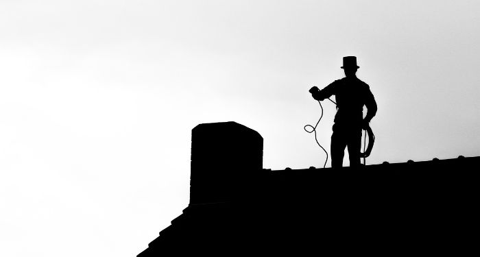 black and white chimney sweep