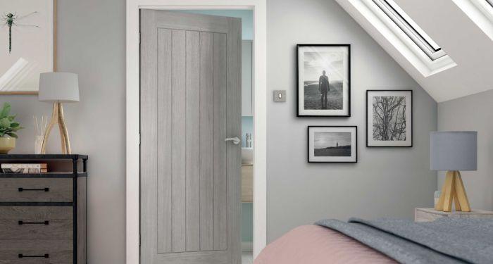 grey cottage door