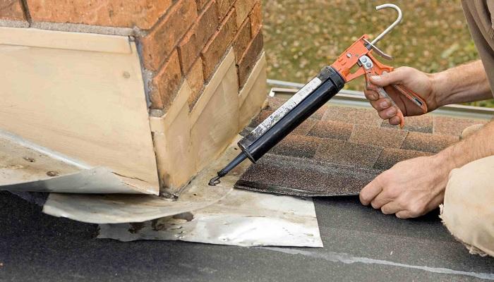 repairing chimney flashing