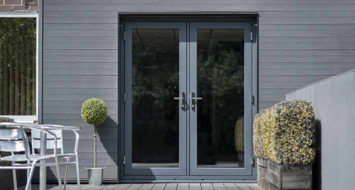 grey flush doors