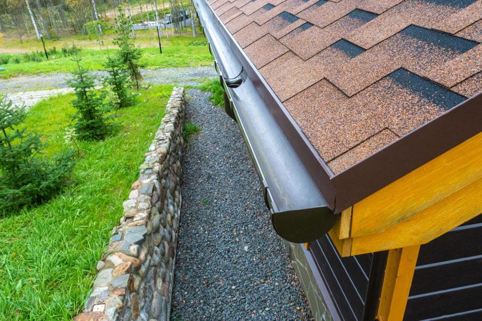 upvc guttering on roof