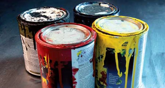 image of paint bucket and brush